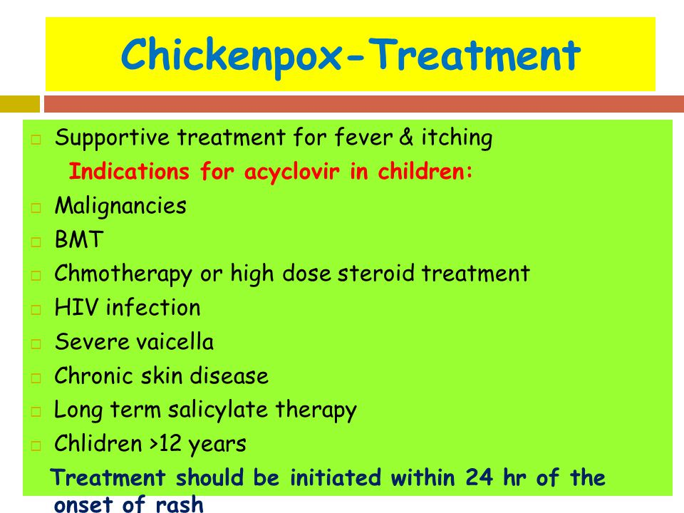 Chicken Pox Treatment For Child